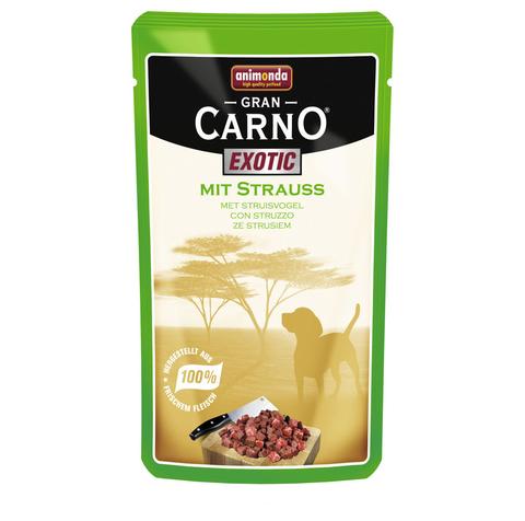 Паучи Animonda Gran Carno Exotic с мясом страуса для взрослых собак