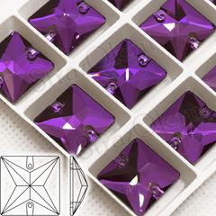Купить стразы пришивные из хрустального стекла Amethyst фиолетовые