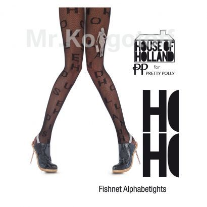 Колготки House Of Holland Fishnet Alphabetights (AQJ8)