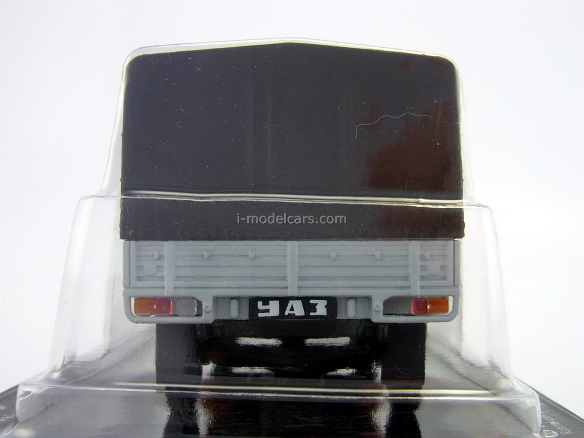 UAZ-33036 board with awning red-gray 1:43 DeAgostini Auto Legends USSR #215