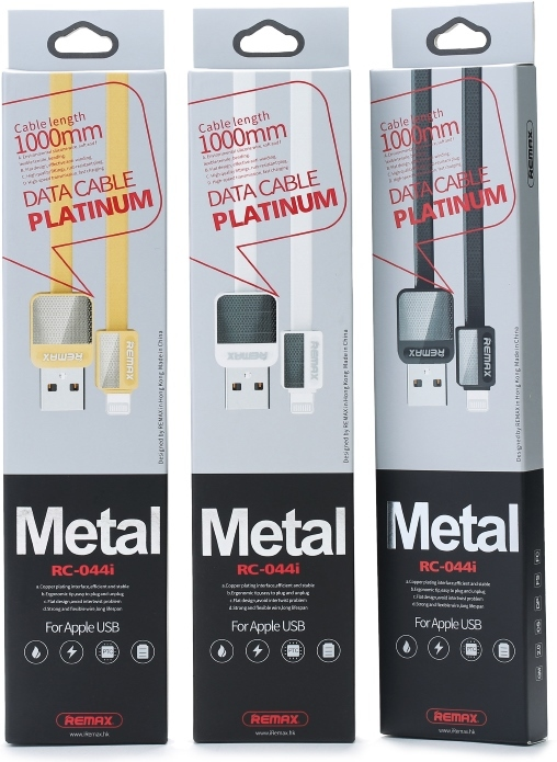 USB-кабель Remax Platinum RC-044i (Lightning) 2.4А 1 метр White для iPhone/iPad