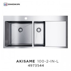 Кухонная мойка Omoikiri Akisame 100-2-IN-L 4973544 цвет: Нержавеющая сталь