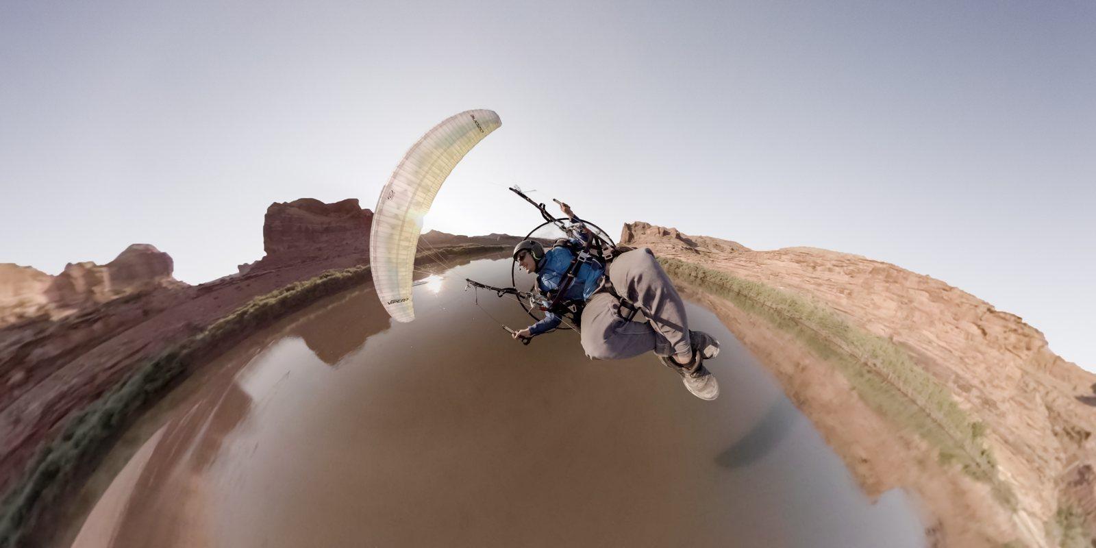 Панорамная камера GoPro Fusion 360 (CHDHZ-103) на парашюте