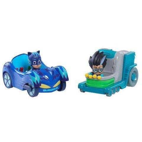 Игровой набор Кэт Бой (Cat boy) и Ромео (Romeo) на машинах - Герои в Масках,  Just Play