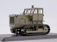 Tractor ChTZ-100 metal tracks khaki 1:43 Start Scale Models (SSM)