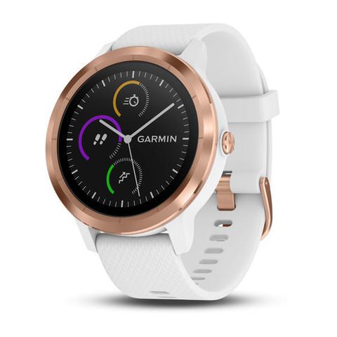 Купить Смарт часы Garmin Vivoactive 3, золотистые с белым ремешком 010-01769-07 по доступной цене