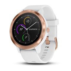 Смарт часы Garmin Vivoactive 3, золотистые с белым ремешком 010-01769-07