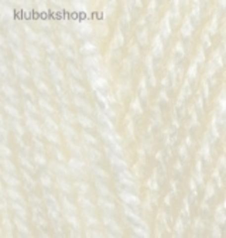 Пряжа Burkum Alize 01 кремовый - фото