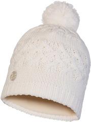 Шапка вязаная с флисом Buff Hat Knitted Polar Savva White