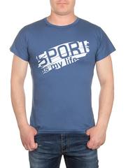 0723-1 футболка мужская, синяя