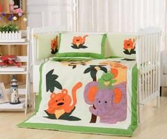 Комплект постельного белья  в кроватку с бортиком ТМ Вальтери Россия DK-19
