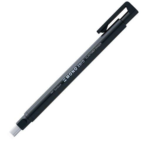 Ручка-ластик Tombow MONO Zero Eraser (прямоугольный наконечник, 2,5х5 мм, черный корпус)