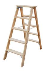 Двусторонняя лестница из дерева, со ступенями, 2 х 6 ступеней
