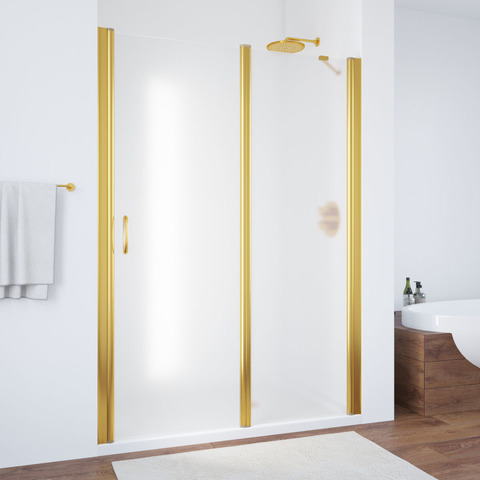 Душевая дверь в нишу Vegas Glass EP-F-1  профиль золото, стекло сатин