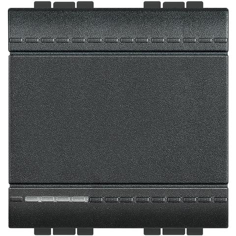 Переключатель промежуточный(перекрестный) с подсветкой, традиционный 16 А 250 В~ 2 модуля. Цвет Антрацит. Bticino Livinglight. L4004M2N+LN4742V230