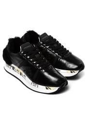 Кожаные кроссовки Premiata Conny 2617 с меховой отделкой