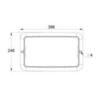 Размеры рамки для встраиваемого монтажа светодиодного аварийного светильника IP65 SAFE-29