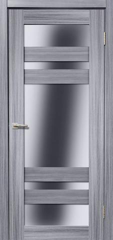 Дверь Дера Мастер 639, стекло белое, цвет сандал серый, остекленная