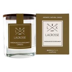 Ароматическая свеча в стекле «Сандал и бергамот» Lacrosse круглая Ambientair