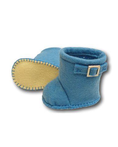 Сапожки-угги из фетра - Голубой. Одежда для кукол, пупсов и мягких игрушек.
