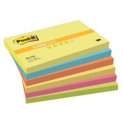 Блок-кубик Post-it 655-TF/1RP 76х127 Теп.неон радуга,6бл.