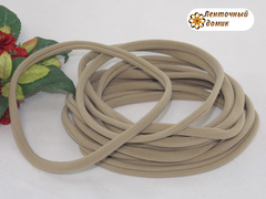 Повязка бесшовная One Size серо-бежевая длина 13 см