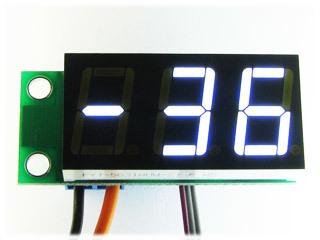 Встраиваемый цифровой термометр с выносным датчиком, ультра-яркий белый индикатор.