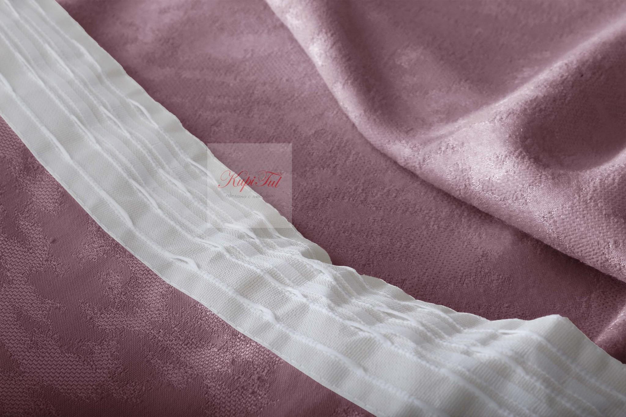 Комплект штор Луи (пыльно-розовый). Шторы из стриженного бархата.