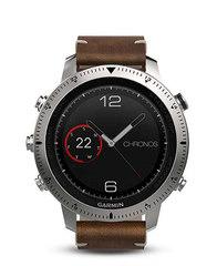 Умные наручные часы Garmin Fenix Chronos (стальной корпус и кожаный ремешок) 010-01957-00