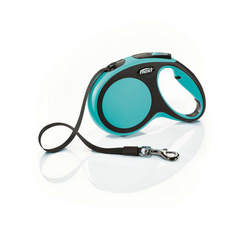 Flexi рулетка New Comfort M ремень, длина 5 м / вес собаки до 25 кг синий