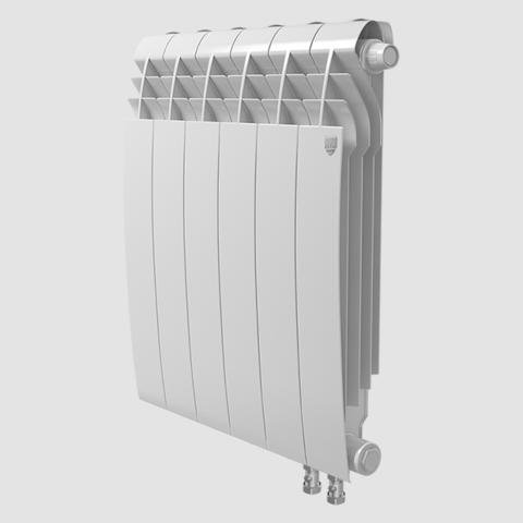 Биметаллический радиатор с правым нижним подключением Royal Thermo Biliner 500 V Bianco Traffico (белый)- 8 секций