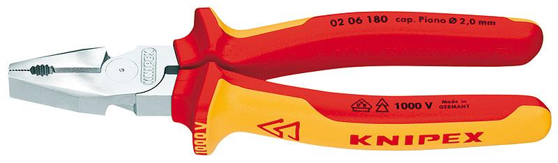 Пассатижи силовые 180мм VDE1000V Knipex KN-0206180