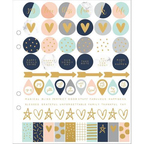 Набор стикеров на листе 17,5 х 21 см  Kaisercraft Planner Stickers -3 л