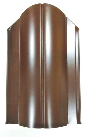 Штакетник металлический коричневый 130 мм