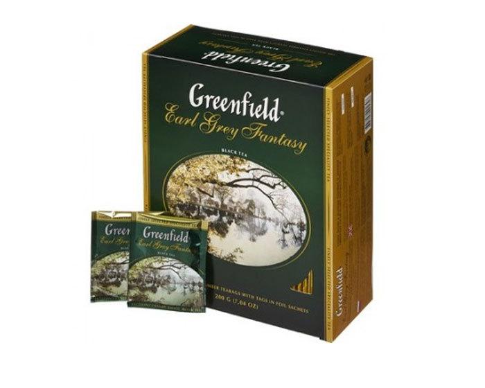Чай черный в пакетиках из фольги Greenfield Earl Grey Fantasy, 100 пак/уп (Гринфилд)