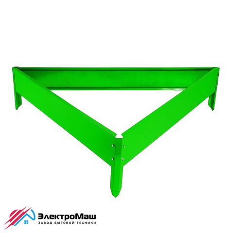 Клумба треугольная 1000х1000х1000 мм, зеленая
