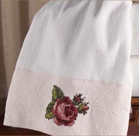 Полотенце 69х127 Avanti Jasmine белое