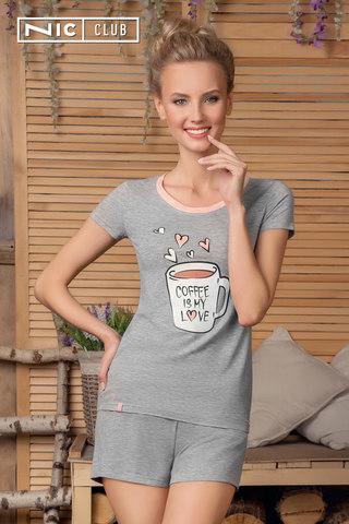 Nic Club Комплект:футболка и шорты светло-серый buongiorno-1701