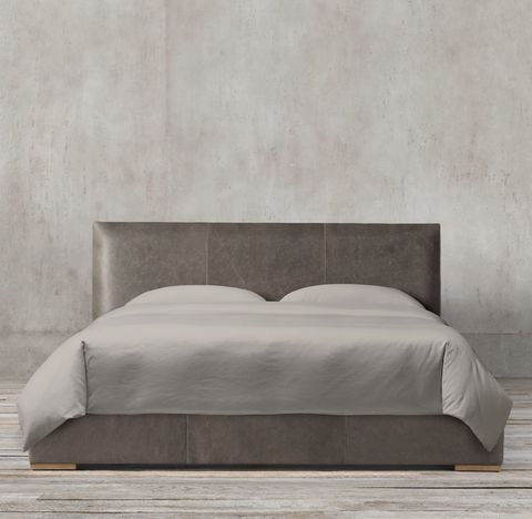 Lawson Panel Non-Tufted Leather Bed