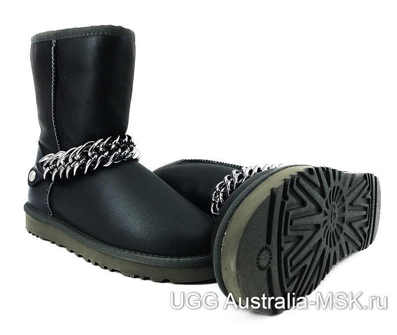 UGG Women Short Zanotti Metallic Black