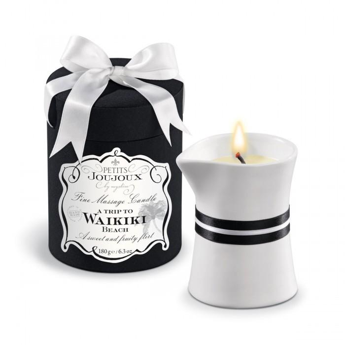 Массажные масла и свечи: Массажное масло в виде большой свечи Petits Joujoux Waikiki Beach с ароматом кокоса и ананаса