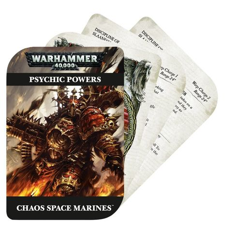 PSYCHIC CARDS:CHAOS SPACE MARINE:ENGLISH