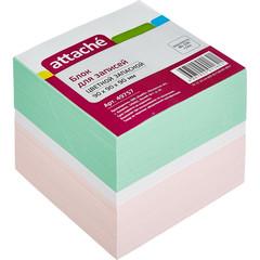 Блок-кубик ATTACHE запасной 9х9х9 цветной блок