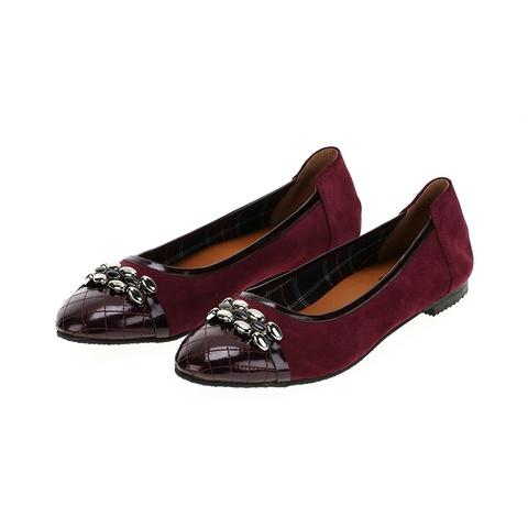 569299 Туфли женские бордо. КупиРазмер — обувь больших размеров марки Делфино