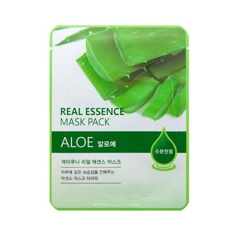 Juno Маска тканевая с алоэ Real Essence Mask Pack Aloe 5шт