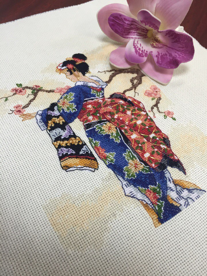 Набор для вышивания Mai Японка Маи. Артикул 6760