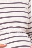 Блузка  09045 лиловый/бежевый