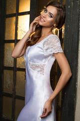 Сорочка женская длинная белая