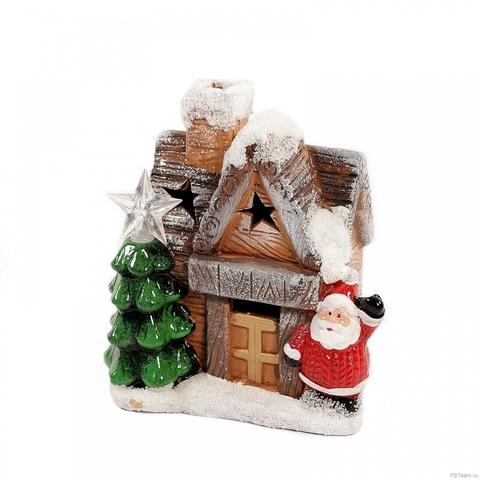 Новогодний домик со светом L51645