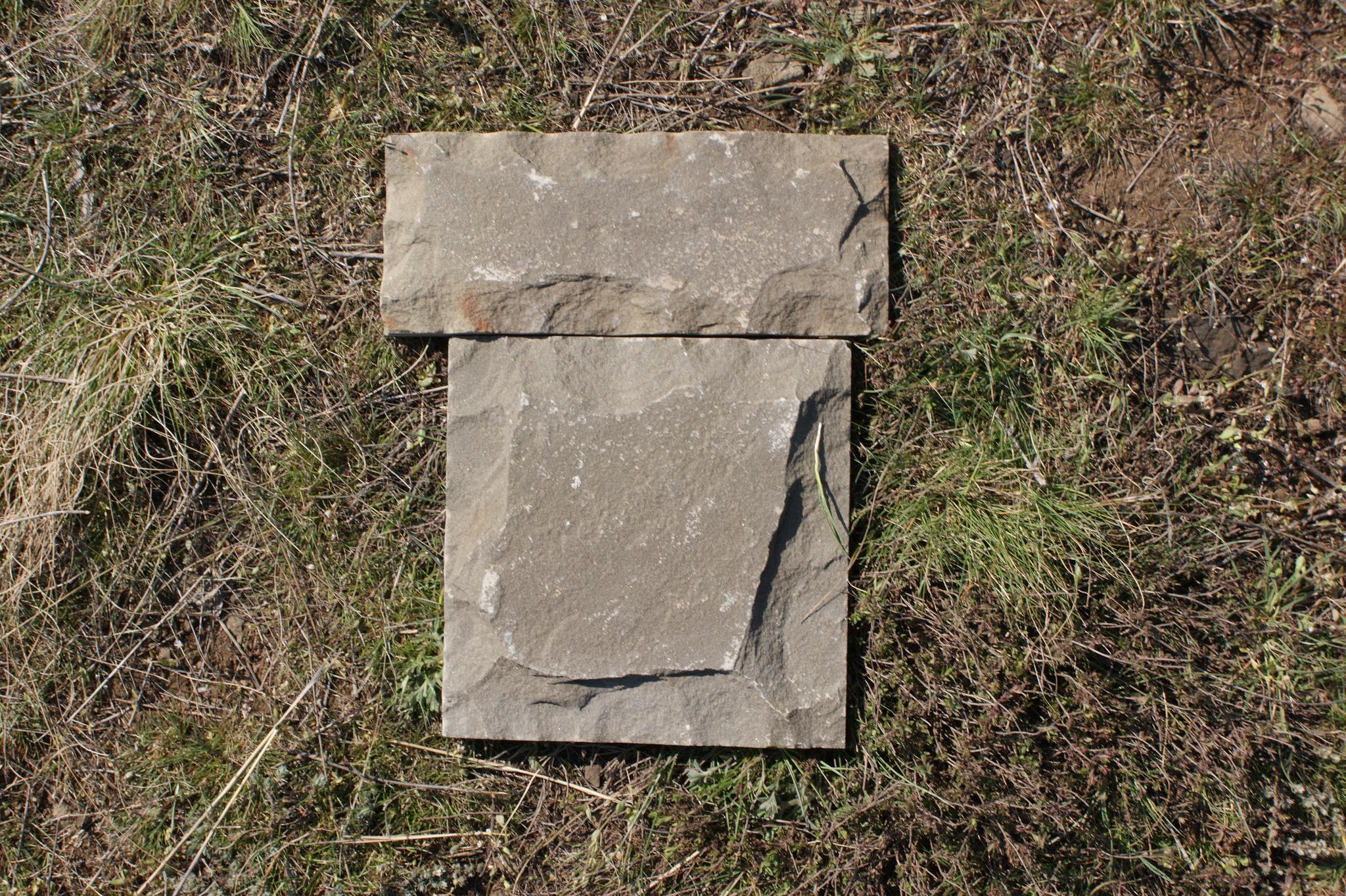 плитка песчаник пиленный рустованный Серый, пример кладки